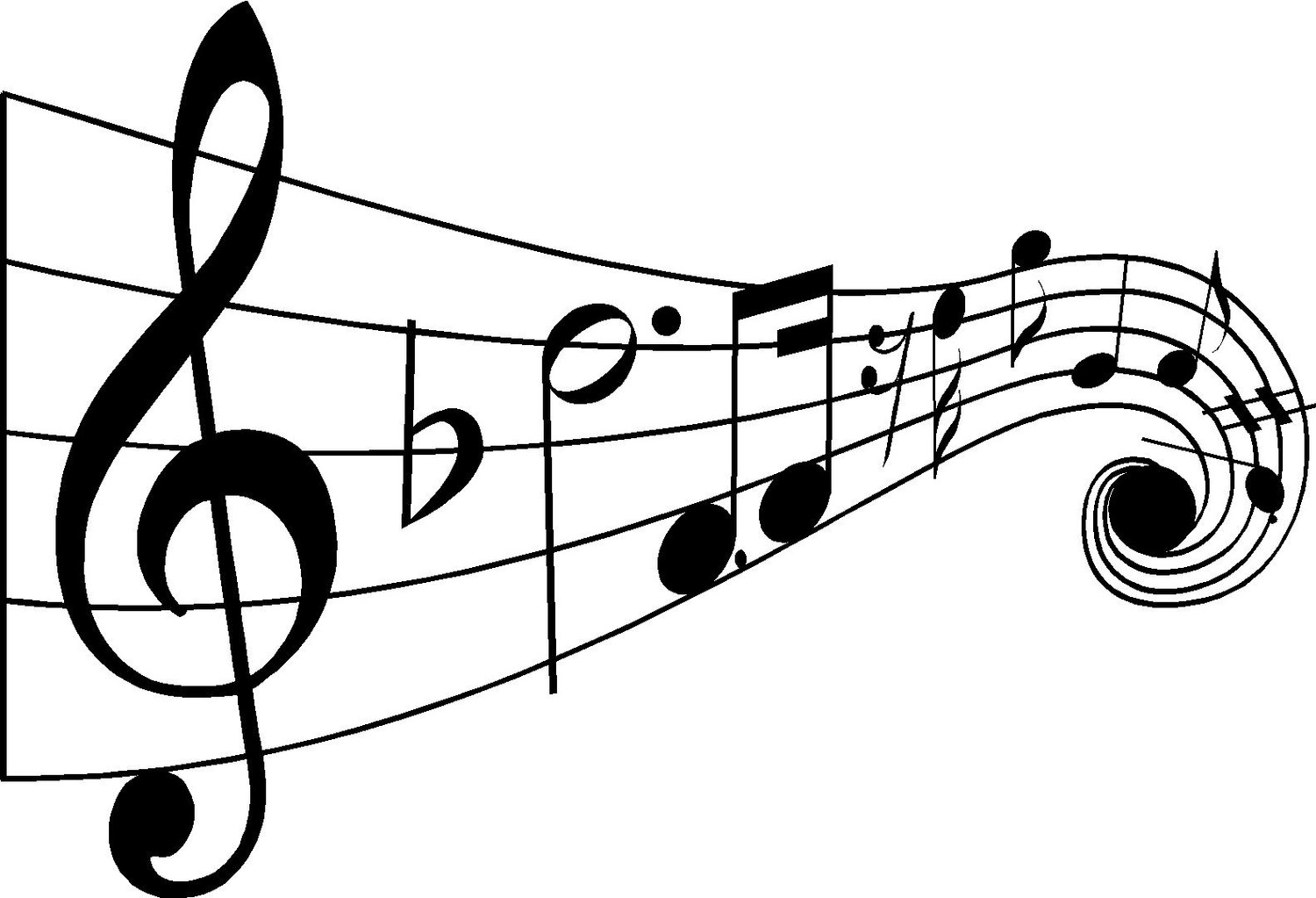 Music note notes clip art pandacute